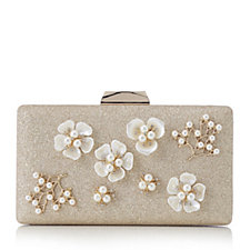 165624 - Frank Usher Small Floral Clutch Bag with Detachable Chain Strap