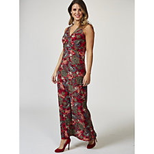 Kim & Co Timeless Paisley Brushed Venechia Twist Front Maxi Dress