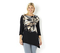 Dolman Sleeve Placement Print Top by Susan Graver - 145225