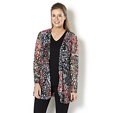 Palette Lace Edge to Edge Cardigan by Michele Hope