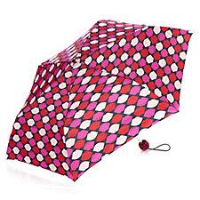 Lulu Guinness Print Lip Grid Superslim Umbrella