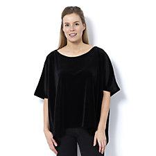 Join Clothes Velvet Scoop Neck Crop Top