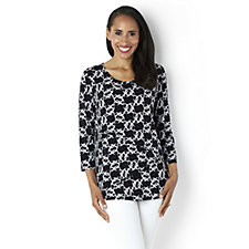 Printed Tiered Top by Susan Graver