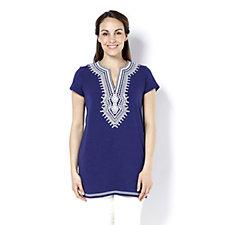 C. Wonder Short Sleeve Embroidered Tunic