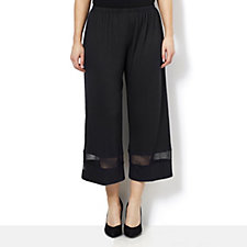 159225 - Yong Kim Modal Cropped Trouser with Mesh Hem Detail
