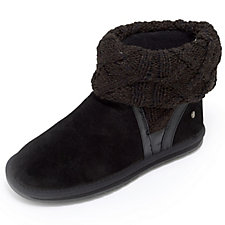 Emu Longreach Slipper Bootie with Knitted Cuff