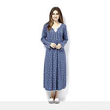 Carole Hochman Rose Bud Print Lace Trim Nightgown