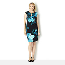 Ronni Nicole 'O So Slim' Cap Sleeve Bold Floral Print Dress