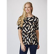 Kim & Co Soft Feather Brushed Venechia Short Sleeve Top