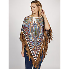 Attitudes by Renee Printed Poncho