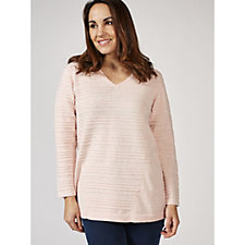 Marble V Neck Multi Knit Panelled Tunic