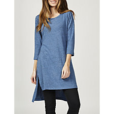 Christopher Fink Cosy Knit Longline Tunic with Side Slits