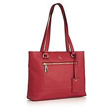 171125 - Ashwood Zip Detail Leather Shoulder Bag