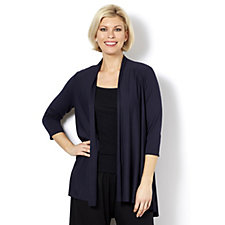 Yong Kim Modal 3/4 Sleeve Edge To Edge Cardigan