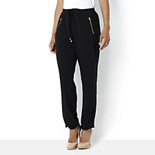 Zip Front Relaxed Trouser by Nina Leonard