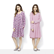 Carole Hochman Florella Fields 2 Pack Sleepshirts