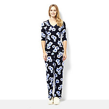 161126 - Carole Hochman Printed Pyjama Set with Lace Insert