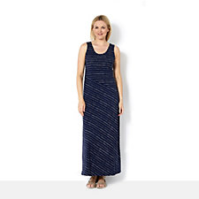The Lisa Rinna Collection Printed Stripe Maxi Dress