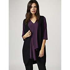 Knitted Waistcoat with Ribbed Placket by Michele Hope