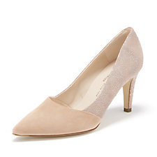 Peter Kaiser Eleonore Suede & Tile Print Cutaway Court Shoe