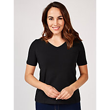 Wicked by Women with Control Essentials Short Sleeve Top