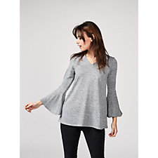 Grace Fluted Sleeve Tunic with Back Keyhole Detail