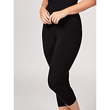 Kim & Co Brazil Knit Elasticated Cropped Leggings