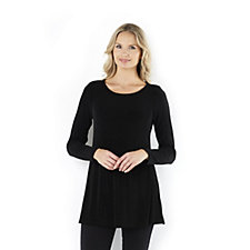 Kim & Co Slinky Long Sleeve Flared Tunic