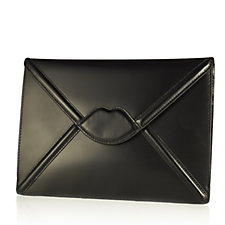 Lulu Guinness Catherine Large Polished Leather Lip Envelope