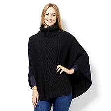 C. Wonder Roll Neck Cable Knit Poncho