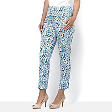 C. Wonder Slim Leg Ankle Length Regular Printed Trousers