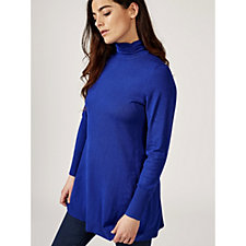 Fit & Flare Mock Neck Jumper by Susan Graver