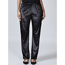 Velvet Tapered Leg Trousers with Pockets by Michele Hope