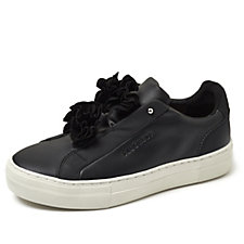 Skechers Street Alba Bloomn Flower Leather & Suede Slip On Shoe