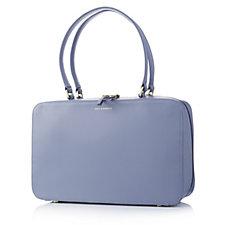 157928 - Lulu Guinness Large Jenny Basket Weave Smooth Leather Handbag