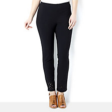 Women with Control Ankle Length Trouser with Laser Cut Detail