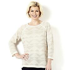 Sigrid Olsen Studio Jacquard Knit Top