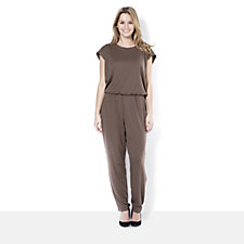 The Lisa Rinna Collection Jumpsuit with Inverted Back Pleat Detail
