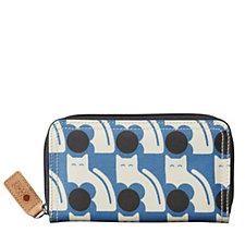 Orla Kiely Poppy Cat Big Zip Wallet