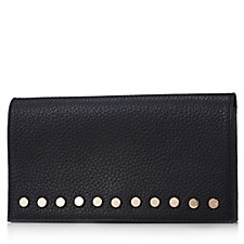 162128 - Amanda Wakeley The Lennon Large Leather Purse with Stud Detailing