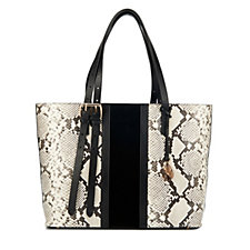 Amanda Wakeley The Dean Stripe Large Leather Tote Bag