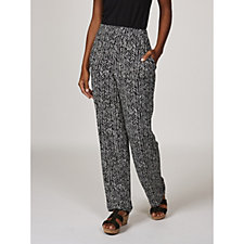 Printed Liquid Knit Pull-On Trousers by Susan Graver