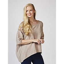 Join Clothes Textured Cotton Tunic Top