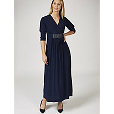 Grace 3/4 Sleeve Maxi Dress with Embellished Panel