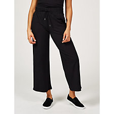 Anybody French Terry Wide Leg AnkleTrousers