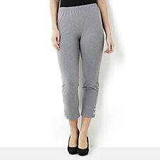 Antthony Designs Popper Hem Detail Crop Trousers