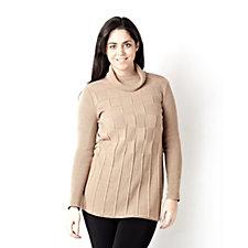 Long Sleeve Box Jacquard Tunic by Nina Leonard