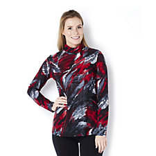 Mr Max Mock Neck Print Top