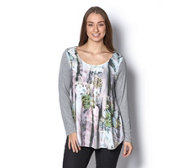 Fashion by Together Print Front Tunic