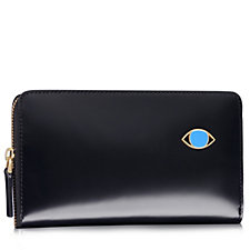 Lulu Guinness Abstract Dora Polished Leather Continental Wallet